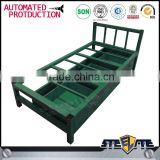 Metal frame KD structure super heavy duty steel single bed for refugees