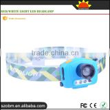 Multi Function Camping headlamp 500Lm 3 Mode Red/White Light Led Headlamp