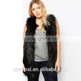Autumn/winter 2016 new style long faux fox fur vest woman dress