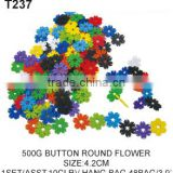 500g 4.2cm Kids Brain Development Plastic Toy Flower Tang Han Building Blocks