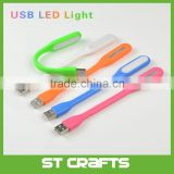 2016 new design Ornaments flexible Mini usb flash drive led light flexible led usb light