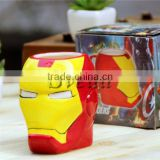 New Arrival Iron Man Mugs, Lovely ceramic mug wholesale price, promotion gift mugs
