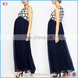 2016 Western new style sells well cheap maxi dress maternity beaded embellished bodice chiffon maxi dresses