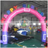 high quality inflatable birthday arch/stock inflatable arch for racing events/inflatable entrance arch