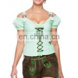 German leather trousers Oktoberfest lederhosen Green Pepper Women Bavarian-Oktoberfest-Trachten-Short-Lederhosen-All-Size