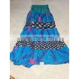 Women's Designer Handmade Cotton Printed Sky Blue Skirt girls wear long Dress party Wear