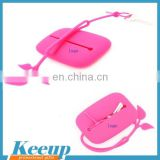 Wholesale branding candy color custom silicone key case silicone rubber bag