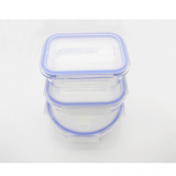 Storage Glass Food Container with Plastic Lid
