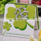 GREEN FOUR LEAF MIRROR LUCK MIRROR LOVE MIRROR