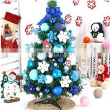 Small Artificial Christmas Trees Blue 20-50cm Mini Plastic Tabletop Christmas Tree