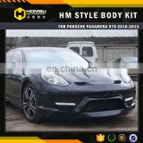 High end HM style Body Kit Carbon Fiber Bumper bodykits For porsch panamera 970