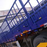 Factory 3/4 axles 40ft side wall semi cargo truck semi trailer container flatbed lowbed semi trailer
