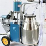 hand push type vacuum pump goat milking machine/Vacuum single or double bucket Cow Milker