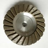 Aluminium base Turbo Segment Tornado Grinding Cup Wheel Diamond Grinding Cup Wheel Disc for Concrete Granite Marble Stone