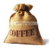 Natural burlap coffee bean storage bag for coffee lover