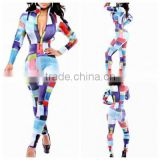 2015 Womens Sexy Bodycon Cocktail Party Conjoined waisted letters printed suit