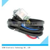 Customized orginal electrical motorcycle car alarm headlight wire harness with relay fuse