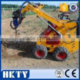 Wide selection of skid steer loaders for sale,small engine- powered loader with auger/trencher/digger/sweeper