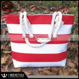 Latest Great Bridesmaid Gift Canvas Stripes Nautical Beach Bag