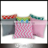 New Fancy Pillow Case Chevron Printed Pillow Case Cotton Custom Cushion Case                                                                         Quality Choice
