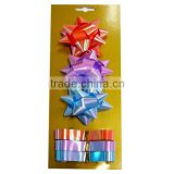 Colorful and Beautiful Ribbon Eggs and Star Ribbon Bows for Decoration Gift/Presant/Flowers