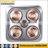 Ceiling mounted Electric golden infrared bathroom heater fan heater light 3 in 1                                                                         Quality Choice