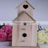 2016 Top New Natural colour Wooden Bird House,Popular wooden bird house,Cheap outdoor hanging wooden birds house                                                                         Quality Choice
