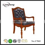 Luxurious solid wood vintage office chair