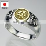 High quality traditional craft Silver and Gold ring with Stylish made in Japan
