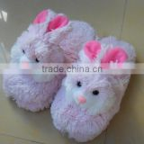 Hot selling new design plush slipper for promotion plush bunny slippers