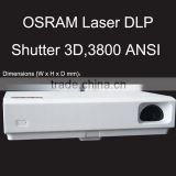 High lumens high brightness 3D LED DLP laser projector to home theater,education,business