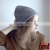 European Girl Ice Blue Winter Wear Rib Cashmere Hat Beanie                                                                         Quality Choice