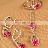 Alibaba Bridal wedding jewelry necklace set crystal necklace sets diamond ruby jewelry set