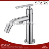 Deck mounted brass cold tap, chrome plated bathroom water tap