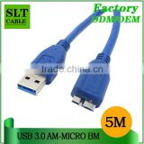 SLT Superspeed USB 3.0 Cable Connector Micro B Male to A Type Male