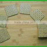 Top price set of six bamboo coaster eco-friendly