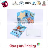 Hot Sell Manufacture High Quality Customized Promotional Lenticular Printing 3d Plastic vintage postcards/ 3D post card