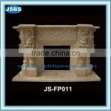 Marble Fireplace with Lion face JS-FP010Y- more photos for chosing!