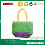 Summer colorful handle packaging jute beach bag