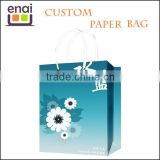 Pop salable Guang zhou handle gift paper bag cheap price