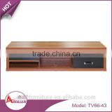 Wholesale living room furniture new design l shaped modern wooden tv stand with PVC