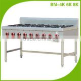 Commercial Stainless Steel Kitchen Gas Cooking Range With 6 Burner/Gas Cooking Range Supplier BN-6K