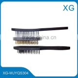 Cheap price cleaning steel wire brush/plastic handle wire brush for metal cleaning polishing