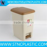 rectangle 18L plastic foot pedal garbage bin with lid