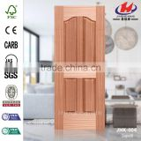 JHK-004 Economic Four Panels Concave Sale Deep Mold Convex Natural Sapele MDF Door Skin Factory