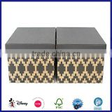 customized e flute shipping black packaging corrugated box