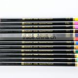 Languo hero clssical long 12 pcs colored pencil ,black wooden color pencil in tube sets,pencils lead 1.8mm 12 colors