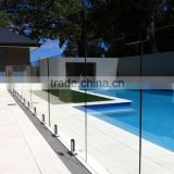 Tempered glass outdoor swimming pool fence with AS/NZS2208:1996, BS6206, EN12150 certificate