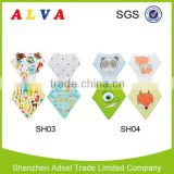 New Pattern Super Absorbent Cotton Bandana Bibs for Baby Wholesale High Quality Baby Bibs                                                                                                         Supplier's Choice