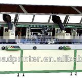 Automatic 3-colour cylinder UV glass bottle printing machine LCB-120UV-3 auto silk screen printing machine